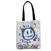 Purfay lona capacidade feminina bolsa de ombro algodão tote shopper saco eco reutilizável viajar saco pano mensageiro baga
