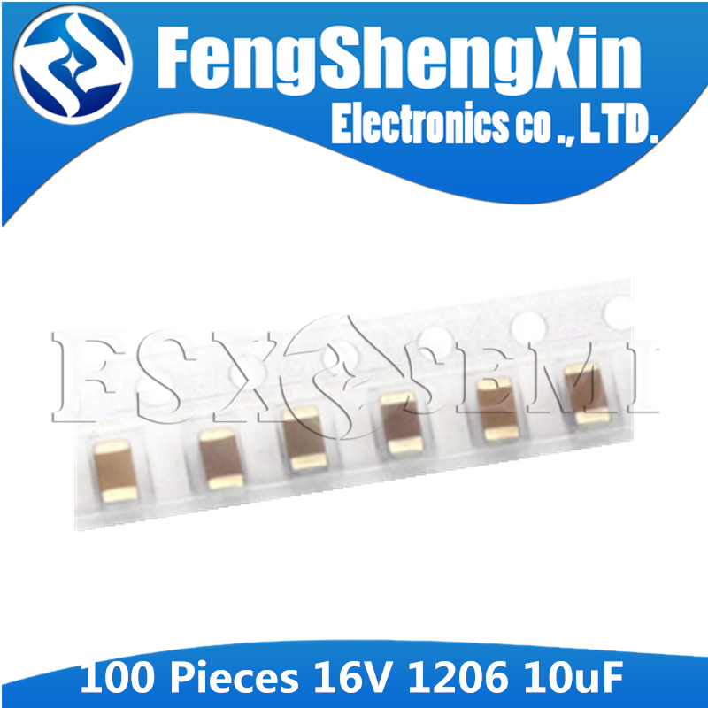 10Pcs Tantalum Capacitor SMD 10V10UF 10UF 10V AVX TAJA106K010RNJ 1206 A type