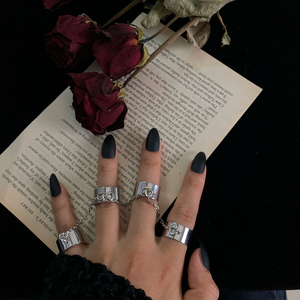 HZ Punk Cool Hip Pop Multi-layer Adjustable Chain Four Fingers Open Silver Alloy Rotate Rings for Women Man Couple Party Gift(China)