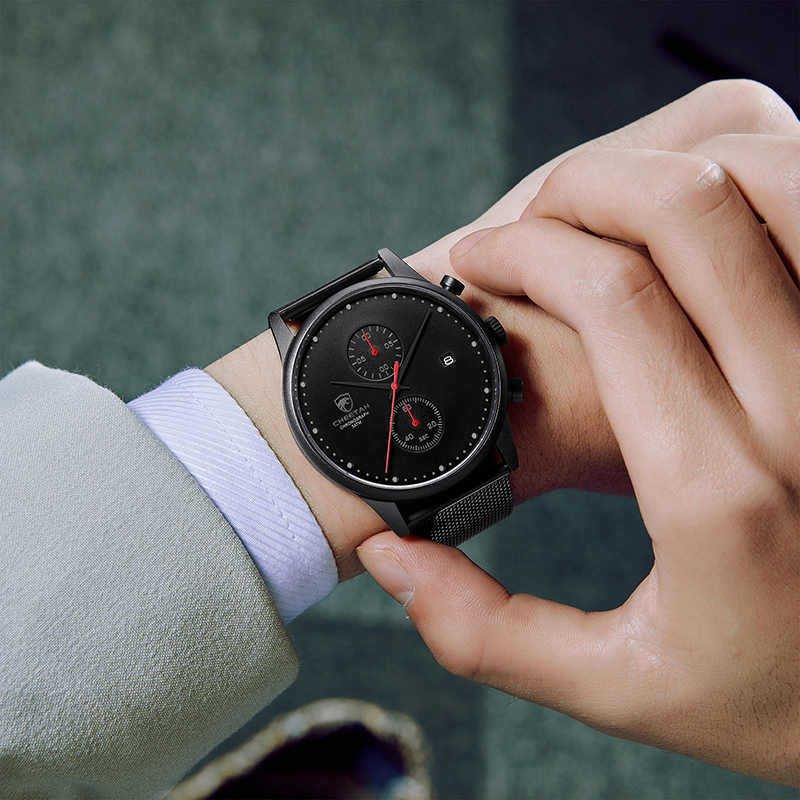 Гепард бизнес часы для мужчин модные спортивные кварцевые мужские наручные часы водонепроницаемые часы с хронографом из нержавеющей стали с коробкой