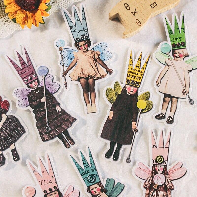 27PCS Vintage Letter Stickers Kawaii Children DIY Scrapbooking Album Journal Happy Planner Crafts Decorative Stickers Package