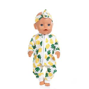 Image 3 - New fashion Jumpsuits Fit For 43cm Zapf Born Baby Doll 17inch Born Babies Doll Clothes