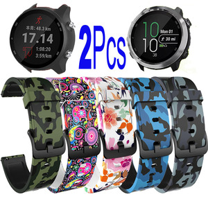 Image 1 - Silicone Strap For Garmin Veun Sq Forerunner 245M 245 645 Music Move 3 Luxe Style Venu Watchband 20mm Camouflage Bracelet
