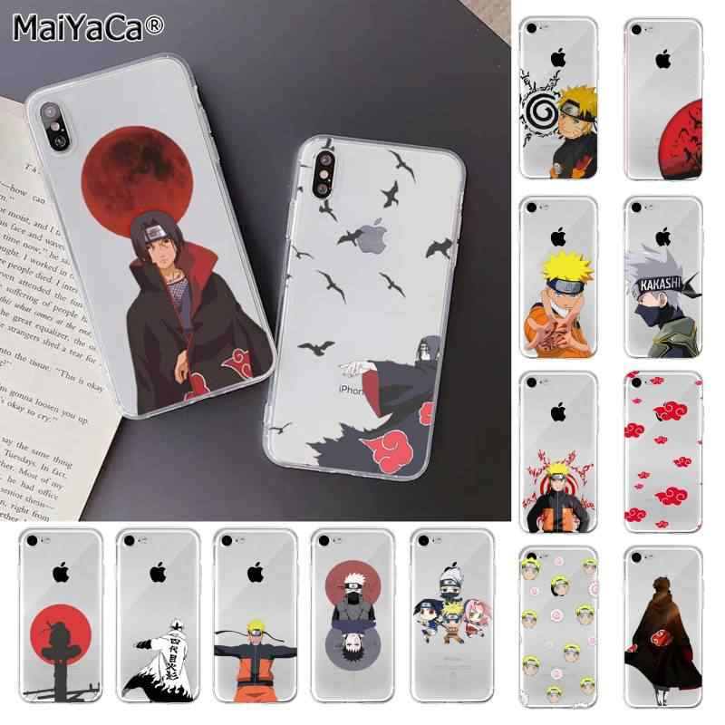 MaiYaCa Anime Naruto Itachi Transparante TPU Soft Phone Cover voor iPhone 11 pro XS MAX 8 7 6 6S plus X 5 5S SE XR cover
