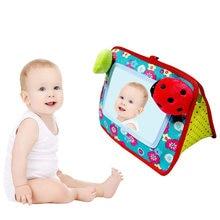 Miroir éducatif pour bébé 2 en 1, berceau et miroir de sol, jouets de développement infantile, cadeau éducatif, accessoires de poussette