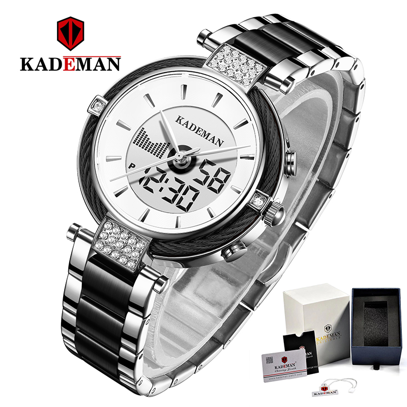 KADEMAN Ladies Watches Luxury Gifts TOP Brand LCD Business Women Watch Fashion Bracelet Female Digital Wristwatches Girl Relogio