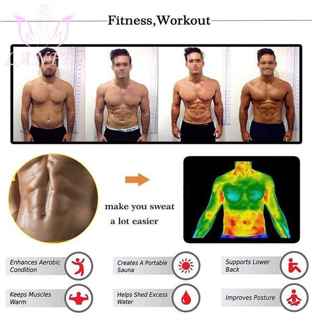 LANFEI Adjustable Double Wasit Trainer Belt Men Slimming Body Shaper Sweat Corset Weight Loss Hot Neoprene Sauna Sport Shapewear 2