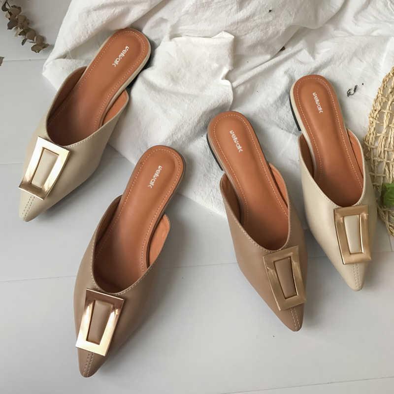 Royou Yiuoer Mujer Zapatos de tac/ón De Punta Moda Stiletto Mules Sandalias Cuero B/ásico Confort Casual Verano Zapatos