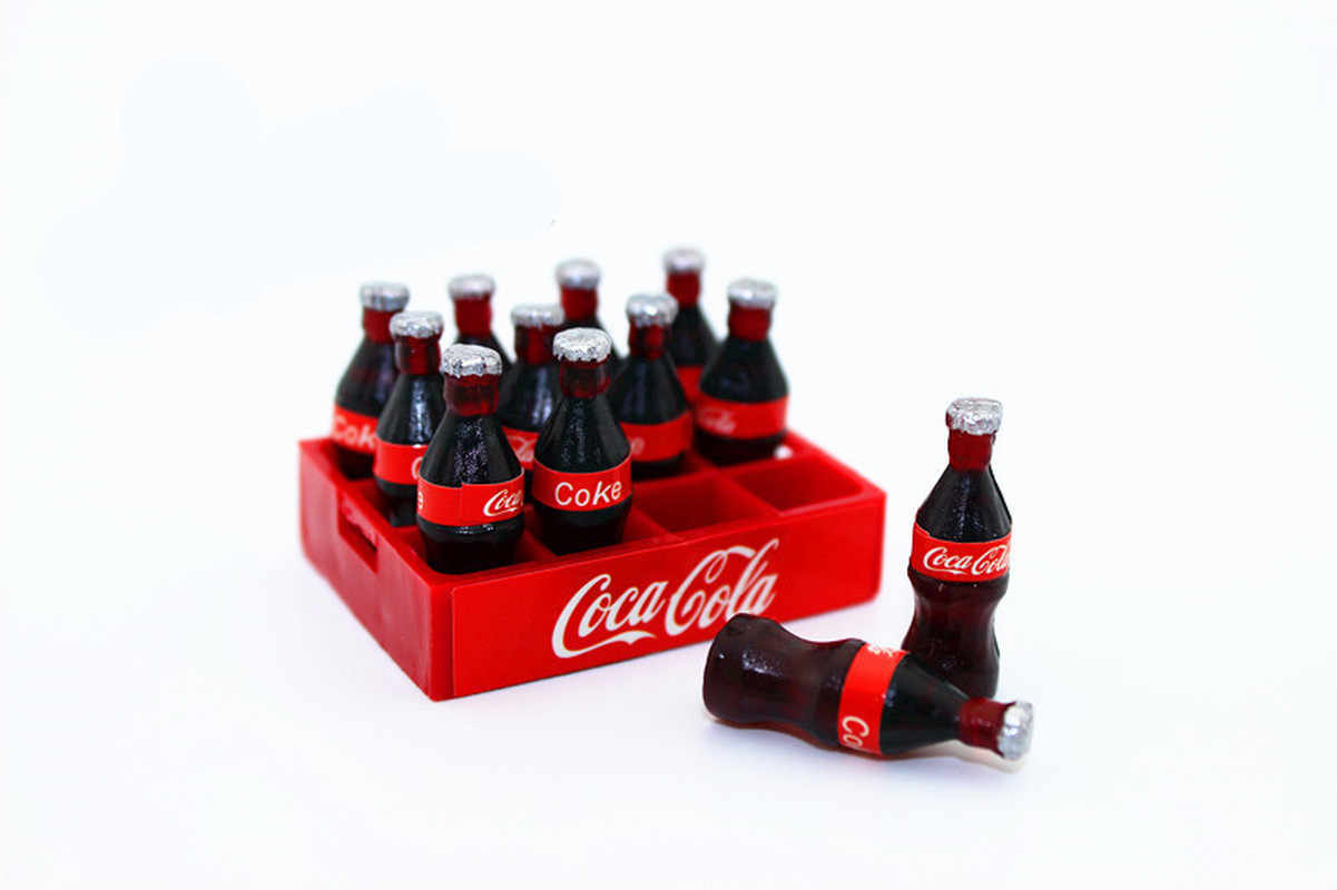 اثني عشر 12 قطعة/المجموعة الوحل السحر زجاجات كولا معزولة الراتنج البلاستيسين الوحل اكسسوارات الخرز صنع لوازم لتقوم بها بنفسك الحرف اليدوية مصغرة
