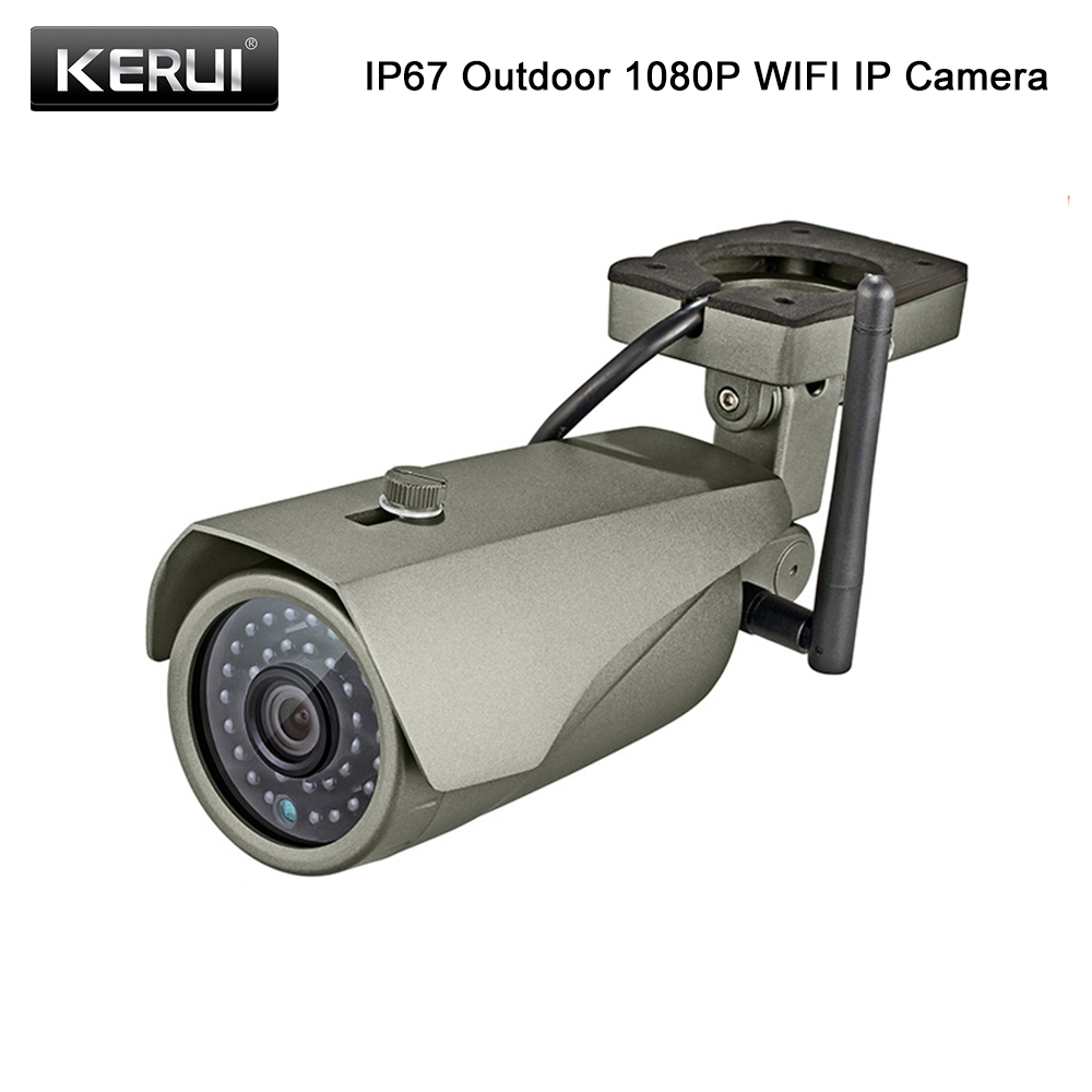 KERUI Volle HD 1080P WIFI Wasserdichte Gewehrkugel Ip-kamera P2P Echt-zeit Vision Home Security Wireless Outdoor Surveillance kamera