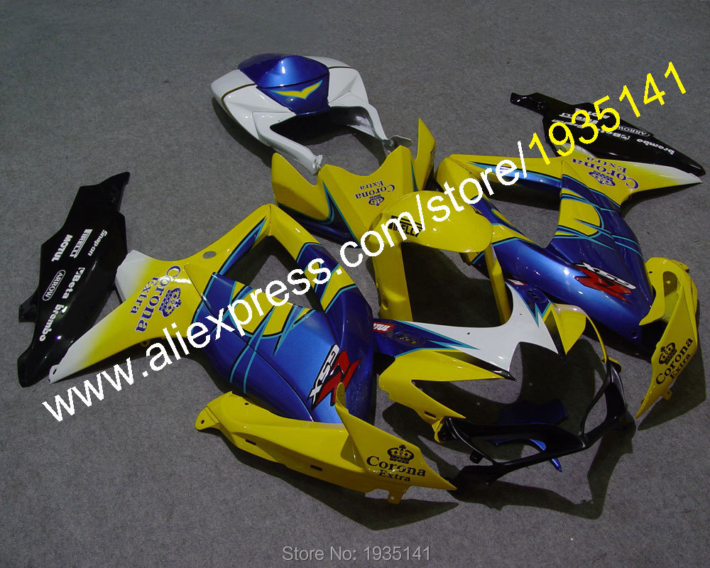 For <font><b>Suzuki</b></font> GSXR600 GSX-R750 K8 08 09 10 <font><b>GSXR</b></font>-<font><b>600</b></font> GSXR750 2008 2009 2010 Yellow Blue Bodywork <font><b>Fairing</b></font> <font><b>Kit</b></font> (Injection molding) image
