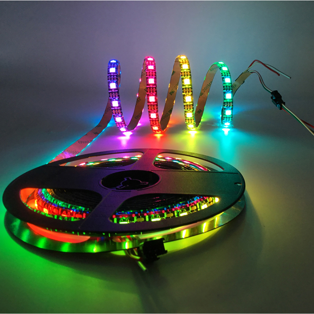 WS2812B WS2812 RGB Led Light Strips Waterproof Individually Addressable Smart RGB Led Light For Home Decoration 1m 2m 3m 4m 5m