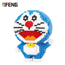 Anime Cartoon Doraemon Mini Building Blocks 3D Model DIY Micro Figure Bricks Toy for Children