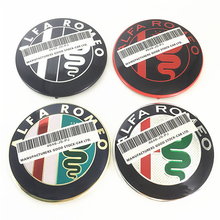 2pcs 74mm Car Styling Specials Color Red Cross Logo Emblem Badge Stickers For Alfa Romeo Giulietta Spider Mito 147 156 159