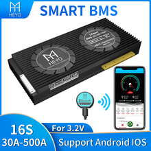 Smart bms lifepo4 16s 200a 100a 30a 80a bluetooth 48V UART rs485 NTC CAN software multiple terminal for low speed car with fan