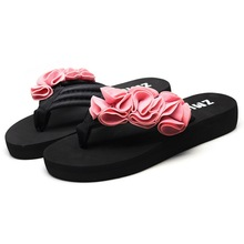 Women Slippers Summer Flower Clip Toe Flip Flops Woman Casual Shoes 2020 LOOZYKITs Female Beach Slippers Non-slip Beach Shoes
