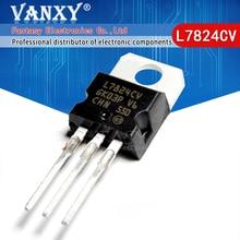 10PCS L7824CV TO220 L7824 TE 220 7824 LM7824 MC7824 nieuwe en originele IC
