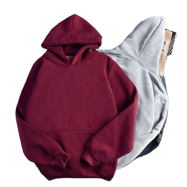 Ailegogo Casual Solid Hooded Hoodies Women Long Sleeve Plus Size Sweatshirts Autumn Pullover Pure Fashion Tops Sudaderas 6