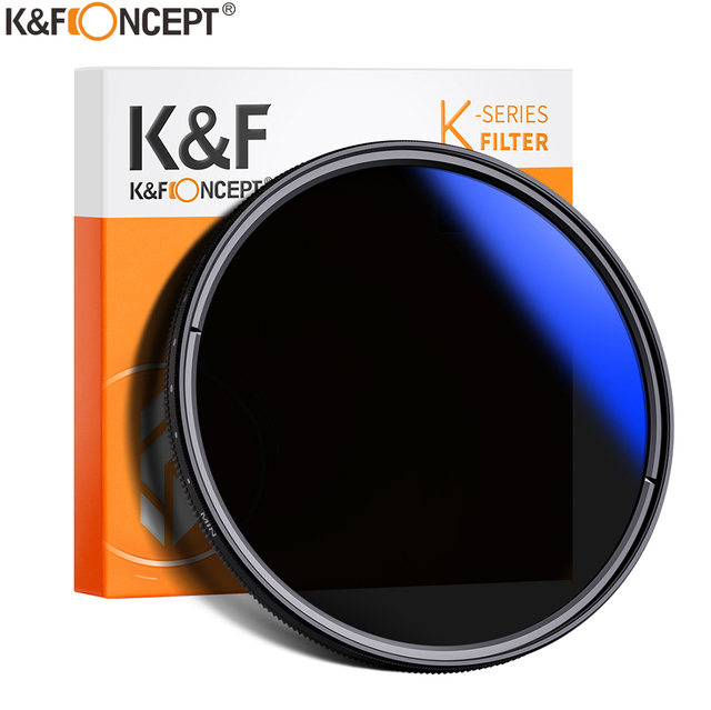 K&F CONCEPT 37-82mm ND2 to ND400 ND Lens Filter Fader Adjustable Neutral Density Variable 49mm 52mm 58mm 62mm 67mm 77mm 1