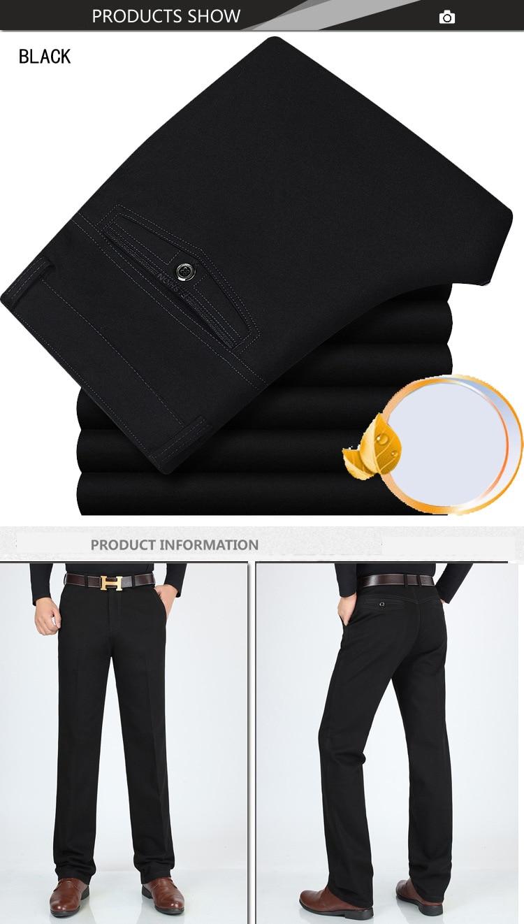 H4f5e0f7e9f254ab5beaf8c0c902f35f8B New Design Autumn Casual Men Pants Cotton Loose Male Pant high waist Straight Trousers Fashion Business Pants Men Plus Size 42