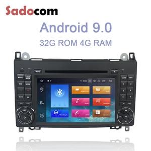 2 din Android 10.0 Car DVD player 8 Core 64GB ROM 4GB RAM car radio autoradio For Benz W203 S203 C180 C200 C209 W209 C208 W208