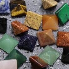 7 pièces/ensemble pyramide pierre gemme pierre naturelle cristal Quartz Point de guérison Chakra maison bureau décoration artisanat