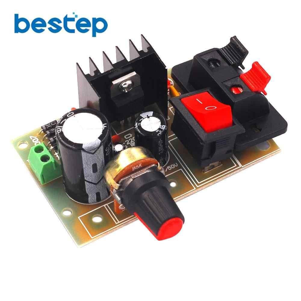 ชุดอิเล็กทรอนิกส์แผงวงจร DIY ชุด LM317 DC 5 V-35 V AC/DC ปรับแรงดันไฟฟ้า -down Suite โมดูล