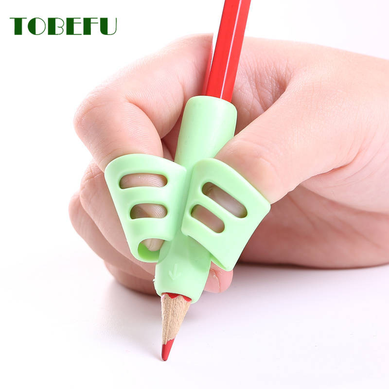 3pcs Children Writing Skill Pencil Pan Holder Kid Learning Practise Silicone Pen Aid Grip Posture Correction Device for Students