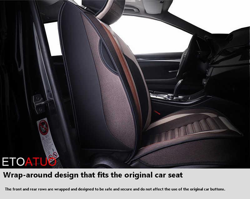 ETOATUO housses de siège auto universelles en lin pour Volvo tous les modèles V50 xc70 V60 v40 xc60 xc90 s60 s40 s80 C70 V90 sièges auto
