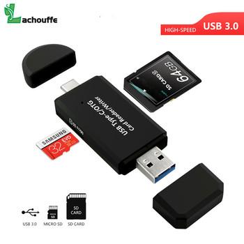 Szybkie łącze USB 3 0 typu C 2 w 1 czytnik kart OTG USB uniwersalny TF czytnik kart SD dla inteligentnego telefon komputer typu C deveices tanie i dobre opinie NoEnName_Null Zewnętrzny CN (pochodzenie) Wszystko w 1 Wiele w 1 Karta SD Karta TF