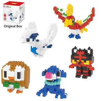 Mini Building Block DIY 3D Micro Brick Educational Toy Pokemon Togepi Jigglypuff Chespin Gengar Magikarp Rowlet Turtwig Litten image