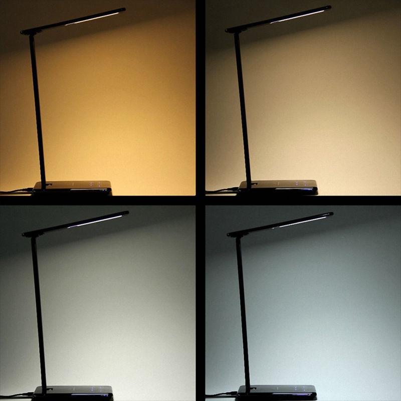 Светодиодный настольный светильник с Qi беспроводным зарядным устройством для Qi-Enab светодиодный светильник, регулируемая складная прикроватная лампа