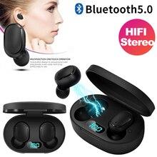 Sleiyi A6S TWS 5.0 سماعة لاسلكية تعمل بالبلوتوث سماعة الرياضة الألعاب سماعة رأس مزودة بميكروفون سماعات الأذن سماعات بلوتوث pk GT1 TWS