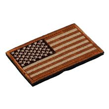 Rectangle Embroidery America US Flag Patch Hook Tactical Patches Cloth Military Moral Fabric Bracelet Army Combat Badge(China)