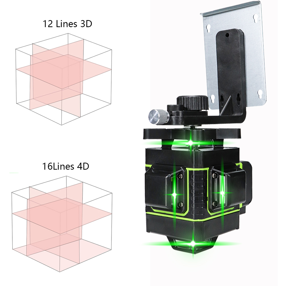 Tools : 3d 4d green laser level 360 rotary Higher Visibility laser level 16 lines self leveling laser level 12 lines Indoors Outdoors