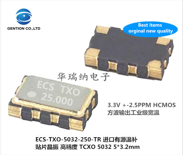 2pcs 100% New And Orginal TCXO 5032 High Precision Temperature Compensated Crystal 25M 25MHZ 25.0000MZ Square Wave HCMOS ECS