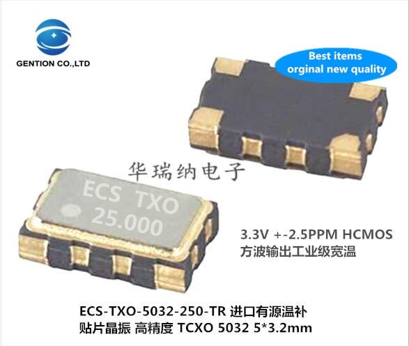 2pcs 100% New And Orginal TCXO 5032 High Precision Temperature Compensated Crystal 25M 25MHZ 25.0000MZ Square Wave HCMOS ECS