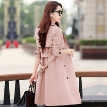 Spring Trench Coat for Women Streetwear Turn down Collar Double Breasted Coats Female Plus Size 3XL XXXL Sobretudo Feminino