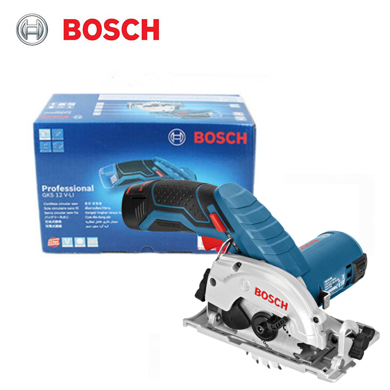 BOSCH GKS 12V-LI lithium rechargeable electric circular saw household woodworking cutting tools (excluding battery charger)
