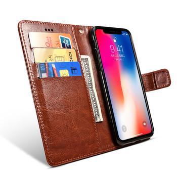 Portfel etui z klapką do Xiaomi Redmi 4 4A 5 5A 6 6A pokrowiec skórzany pokrowiec do pary na Redmi 8A 8 Redmi8 Coque etui na telefon tanie i dobre opinie Aipipixia CN (pochodzenie) Luxury Leather Flip Cover Crazy Horse Moblie Phone Bag Flip Wallet Leather Case Luxury Retro Eelegant Flip Leather Cover