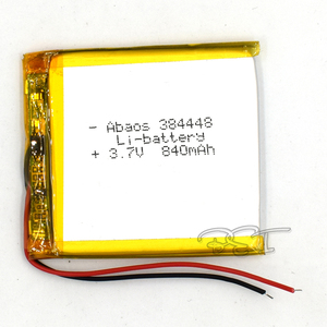 Rechargeable Li-Polymer lithium battery 3.7V 384448 840mAh Battery With PMC For Toy MP3 MP4 GPS Speaker LED Light Camera
