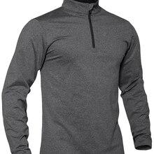 WOLFONROAD быстросохнущая спортивная одежда, мужские топы с длинными рукавами, 1/4 на молнии, рубашки для бега, джоггеры, тренажерный зал, домашняя...