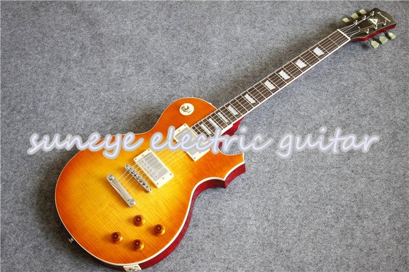 Chegada nova Boston Sunset Desvanece Finish Suneye Kit Guitarra Padrão Guitarra Elétrica Canhoto Disponível