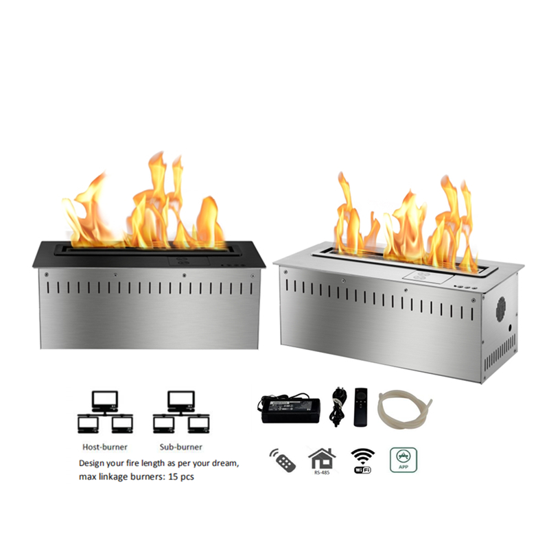 24 Inch Factory Direct WIFI Control Electric Bio Ethanol Fireplace