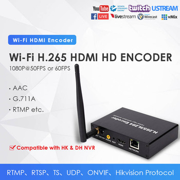 H.265 WiFi 1080P HDMI Network Video Encoder for IPTV Video Conference Streaming Video to YouTube Facebook W/RTMP RTSP TS UDP