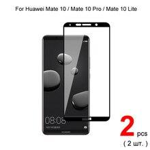 2 pièces couvercle complet verre trempé pour Huawei Mate 10 lite / Mate 10 Pro / Mate 10 verre trempé protecteur d'écran de protection
