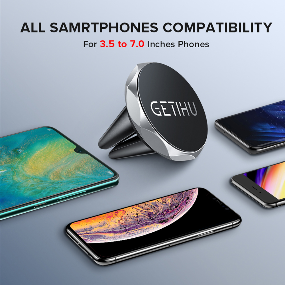Image 5 - GETIHU Car Phone Holder Magnetic Air Vent Mount Mobile Smartphone Stand Magnet Support Cell in Car GPS For iPhone XS Max Samsung-in Phone Holders & Stands from Cellphones & Telecommunications