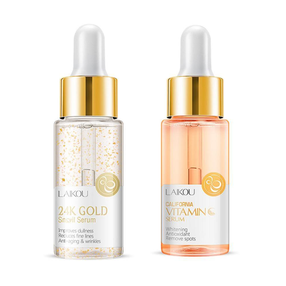LAIKOU Serum Japan Sakura Hyaluronic Acid Pure 24K Gold Whitening Vitamin C Skin Care Face Serum