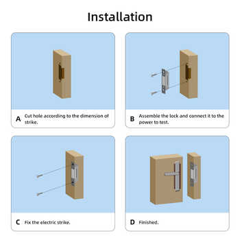 Doornanny Electric Lock For Gate Home Intercom Video Door Phone Door Access Control System Kit With DC12V Power Supply Control