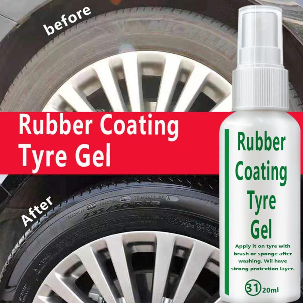 Universal 20ML Car Tire Spray Coating Agent Brightener Decontamination Tire Protector Tire Restoration Accessory High Quality